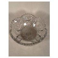 Heisey Crystal Color Pineapple & Fan (aka 1255) Glass Bowl