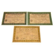 1930's Boy Scout Achievement Certificates