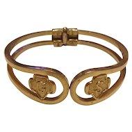 Vintage Girl Scout Silver & Gold toned bracelet