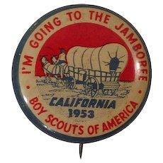 1953 Boy Scout National Jamboree Pinback Button Pins
