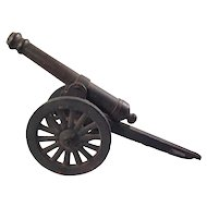 "Vintage 17"" Cast iron Canon Toy"