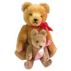 """Vintage 8"""" Hermann Teddy Mohair Bear plus 5"""" Mohair Bear"""