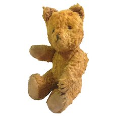 "Vintage 9"" Glass Eyed Teddy Bear circa 1930-1940"