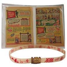 1946 RARE Tom Mix Premium Glow Belt with Secret Compartment Buckle