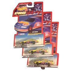 3-Three Hot Wheels Boy Scout Character Counts #50 Pro Racing Cars 1998