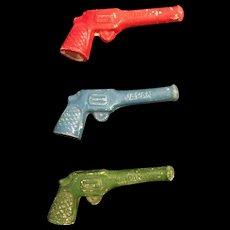 Vintage Cracker Jack Bisque Pistol Figural Bubble Pipe (Choice)