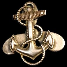 Vintage Sterling Navy WAVES pin WWII United States Naval Women's Reserve