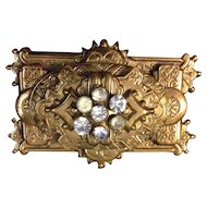 Beautiful Rectangular Victorian Style Brooch