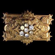 Beautiful Rectangular Victorian Style Brooch