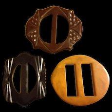 Collection of Vintage Bakelite Buckles