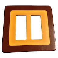 Great Two-Toned Vintage Bakelite Buckle