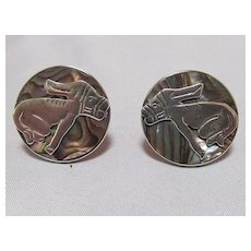 Sterling & Abalone Earrings