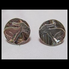 Sterling & Abalone Earrings
