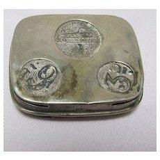 English Metal Coin Holder