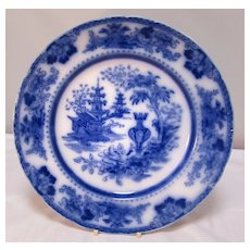 Antique English Flo- Blue Plate