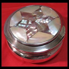 English Sterling/Abalone Ring Box