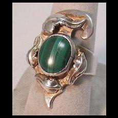 Malachite Native American Style Ring