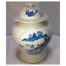 Chinese Porcelain Covered Jar   Kangxi Style
