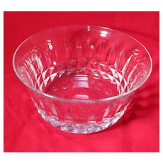 Fine Cut Crystal Bowl from Baccarat Signed
