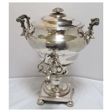 English Sheffield Silver Plated Hot Water Urn