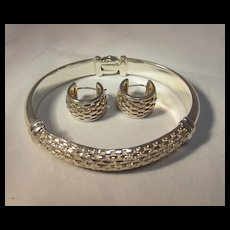 Sterling Bangle and Earrings