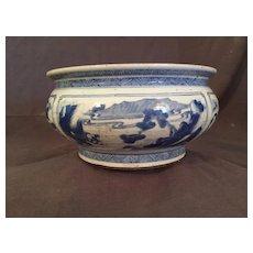 Antique Chinese Kangxi- Style Washer or Bulb Bowl