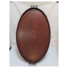 Swastika [ Peace Symbol ] inlaid tray from India