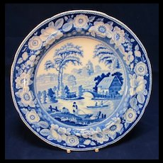 Antique Blue Willow English Dinner Plate