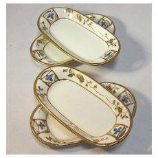 Four Nippon Porcelain Salts