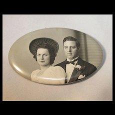 Wedding souvenir Photo Pin/Mirror