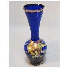 Floral Bud Vase Enameled