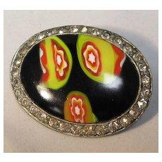 Art Glass Brooch
