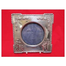 English Art Nouveau Sterling Photo Frame
