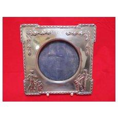 English Art Nouveau Sterling Photo Frame