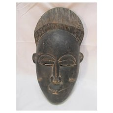Old African Mask Ivory Coast Wood