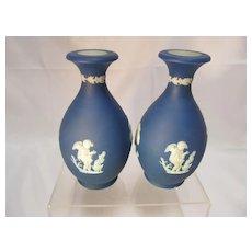 Antique Miniature Wedgwood Jasper Vases