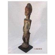African Baule Female Figure Ivory Coast