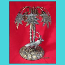"19th Century German  WMF plated Stag Centerpiece 13"" Tall"