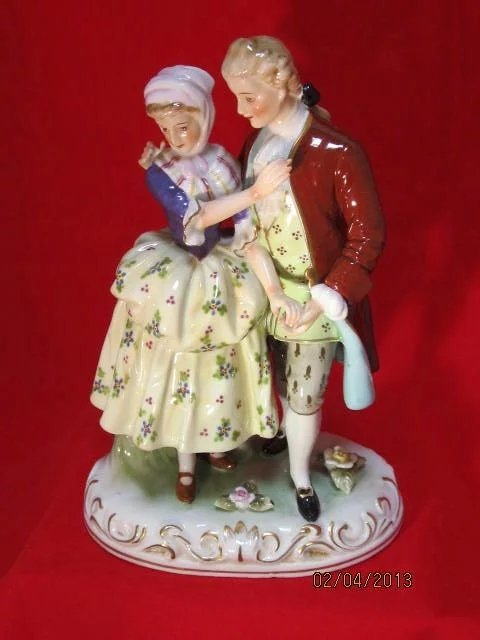 Japanese Porcelain Figurine Courting Couple The Steffen