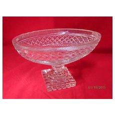 Cut Crystal Oval Bowl