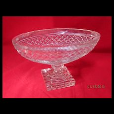 Cut Crystal Oval Bowl