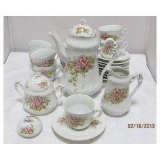 23 Piece Continental Porcelain Tea -Coffee Set