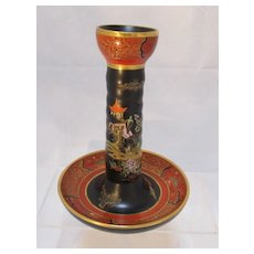 Carlton Ware Chinoiserie Porcelain Candlestick