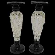Lattice Glass Candlesticks