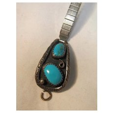 Native American Style Watch Band Sterling Turquoise