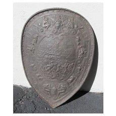 Antique Iron Shield Plaque