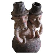 African IGBO Pottery Figural Group