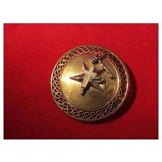 Masonic  Pin Gold Overlay