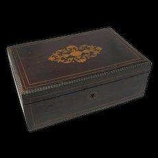 Antique Inlaid Wood Box