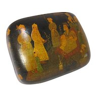 Old Asian Papier Mache Covered Box